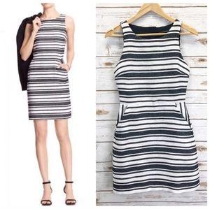 Banana Republic Striped Sheath Dress w/Pockets